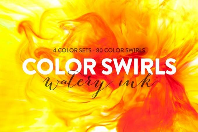 80 Color Swirls - Watery Ink