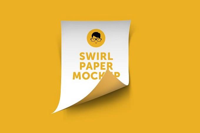 A4 Swirl Paper Mockup
