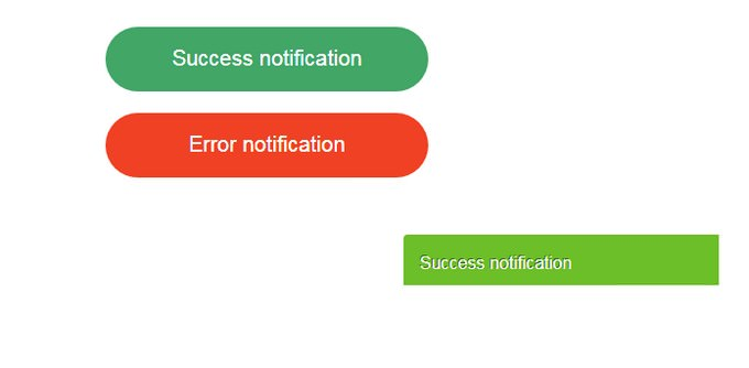 Alert notifications with Alertify js