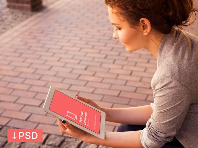 Apple iPad PSD mockup
