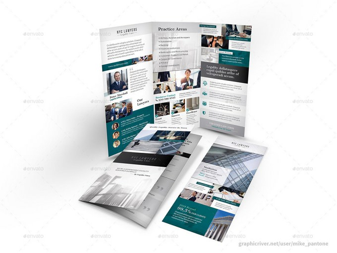 Attorney Firm Trifold Brochure 4