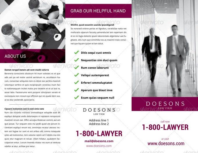 Attorney Tri-Fold Brochure