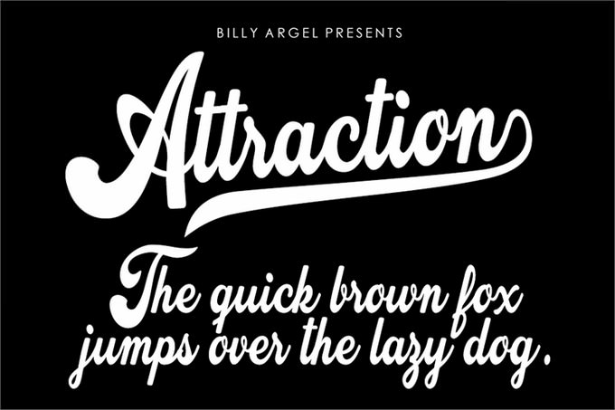 Attraction Personal Use Font
