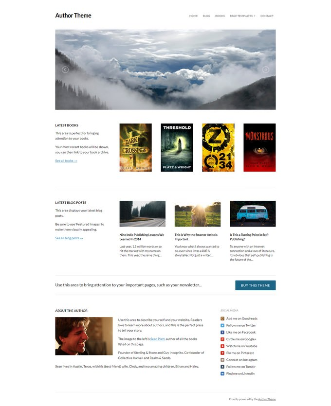 Author Theme for WordPress