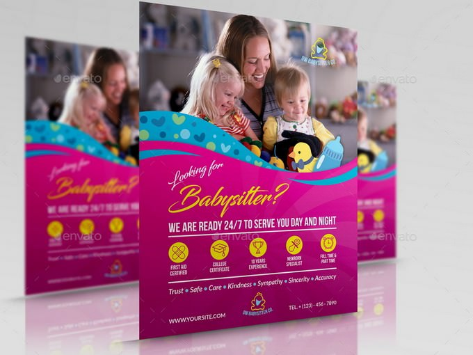 Babysitter Daycare Flyer Template