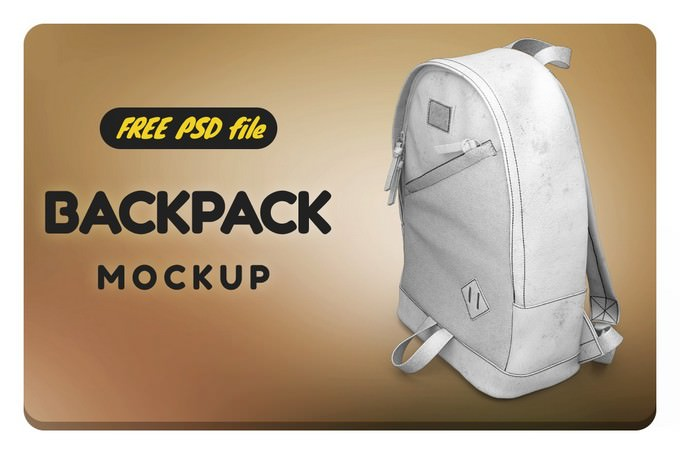 Backpack Mockup Free