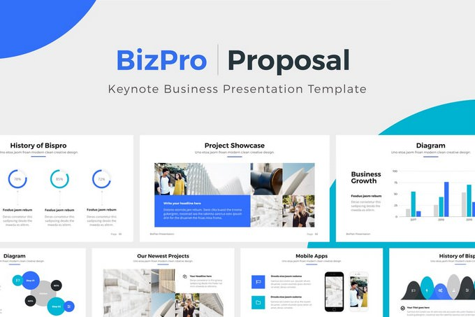 BizPro Proposal Keynote Template Presentation