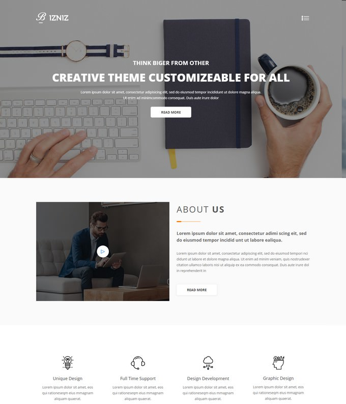 Bizniz  Creative Agency Website Template