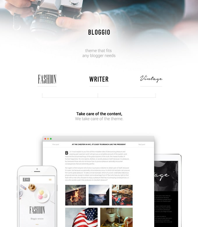 Bloggio - Blogger and writer WP theme