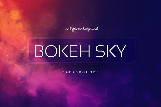 Bokeh SKY BGs Sunrise colors