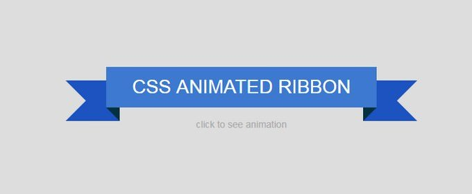 CSS Animated Ribbon