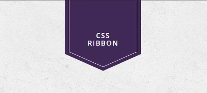 CSS Ribbon With inner Border