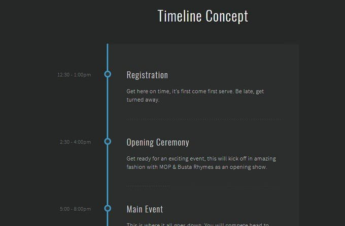 CSS Timeline A PEN BY Darcy Voutt
