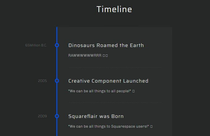 CSS Timeline For Giggles