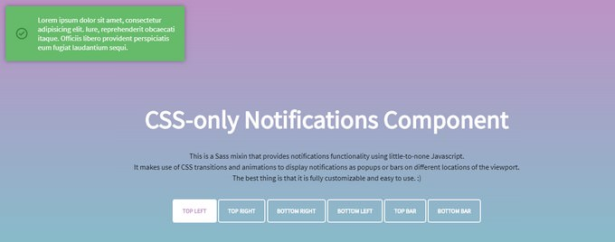 CSS-only Notifications Component