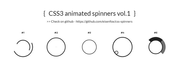 CSS3 Animations Spinners
