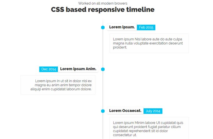 CSS3 Timeline A PEN BY Krishna Babu