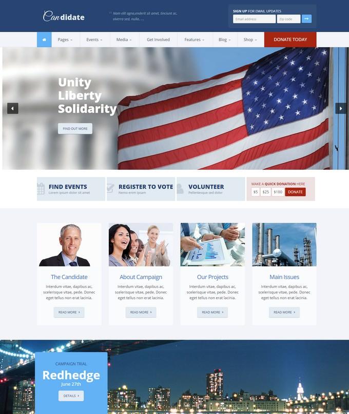 Candidate - Nonprofit HTML Theme