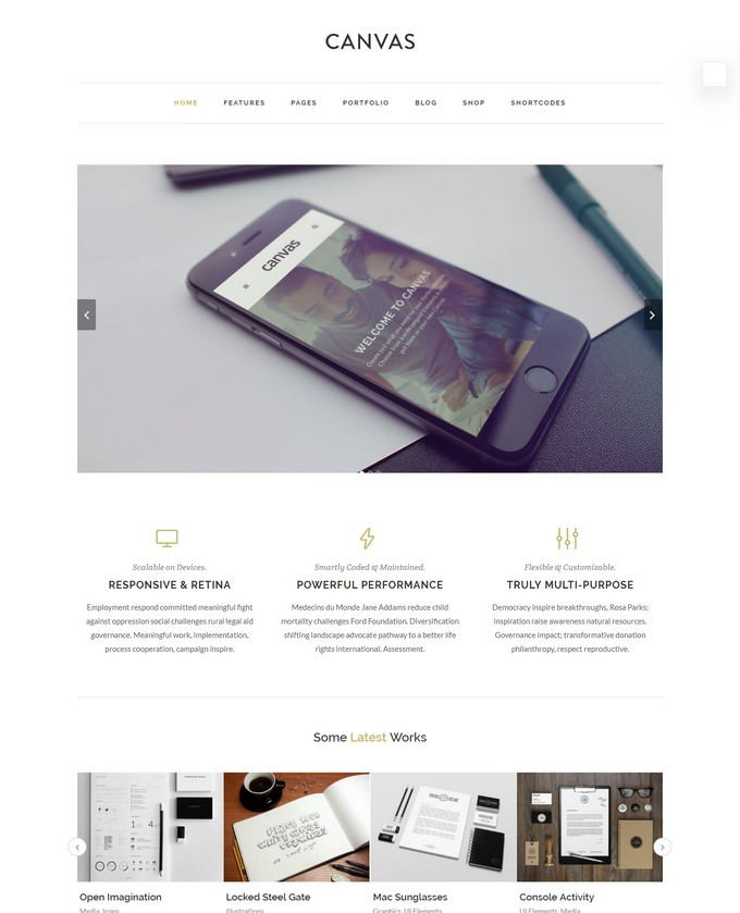 Canvas Agency HTML5 Template