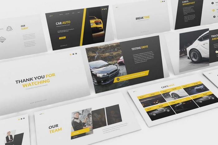 Car Auto Google Slides Template