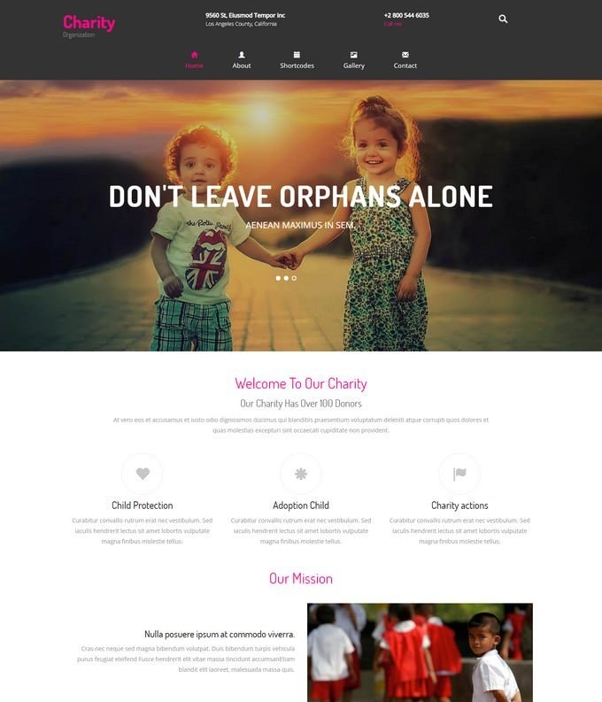 Charity Bootstrap Responsive Website Template