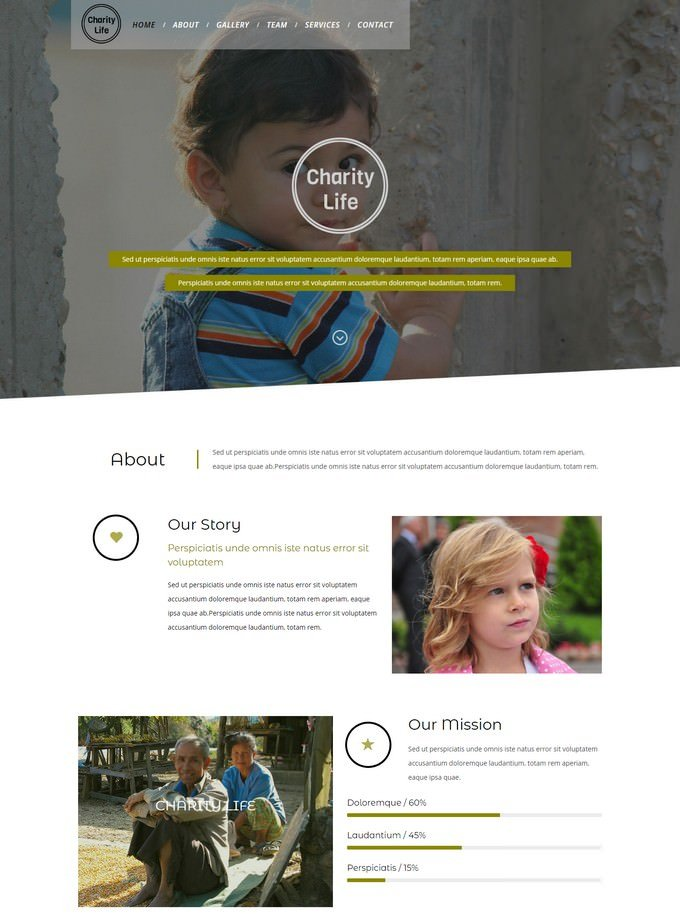Charity Life Responsive Website Template
