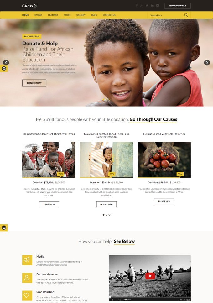 Charity - Nonprofit HTML Template