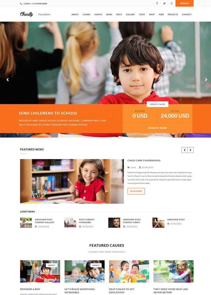 Charity - WordPress Theme Gutenberg Ready