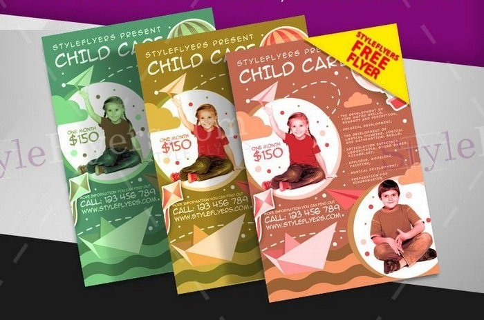 Child Care FREE PSD Flyer Template