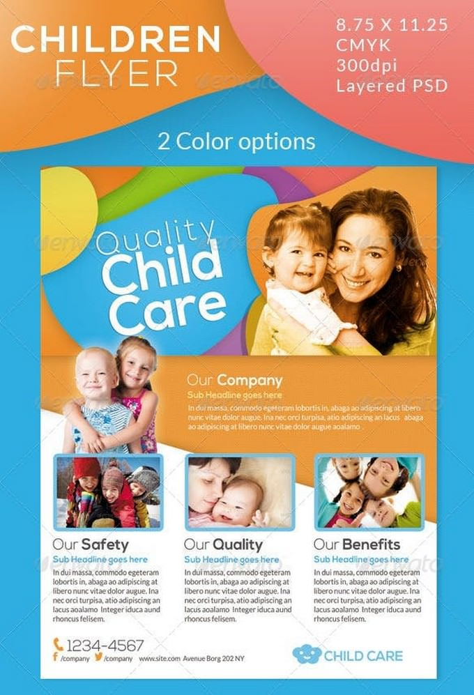 Children Care Flyer Magazine Ad
