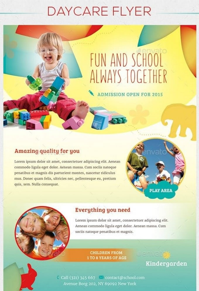 Children - Daycare Flyer