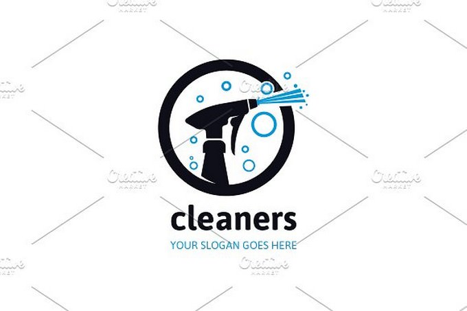 Cleaning Cleaners Logo