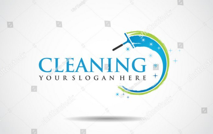 Cleaning Logo Template Vector