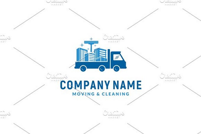 Cleaning Service & Moving Logo