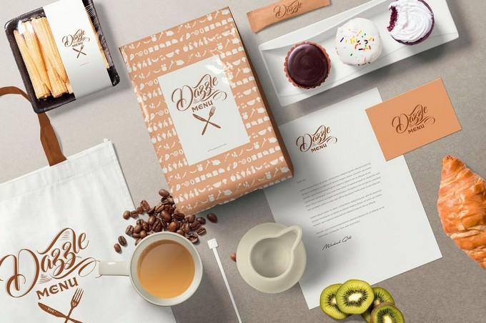 Coffee Themed Brand Identity Mockup Scenes