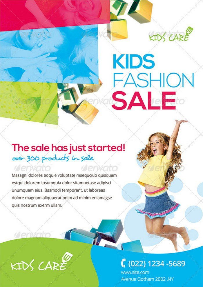 Colorful Kids Fashion Flyer