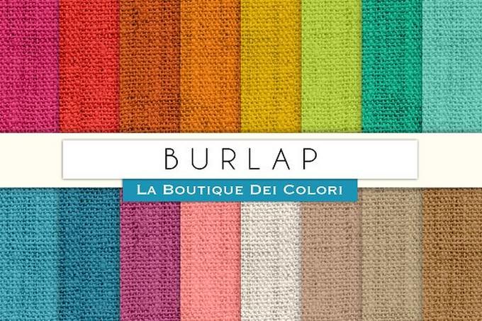 Colourful Burlap Digital Textures