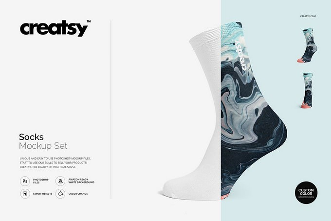 Creatsy Socks Mockup Set