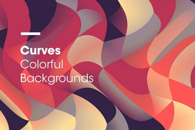 Curves Colorful Backgrounds