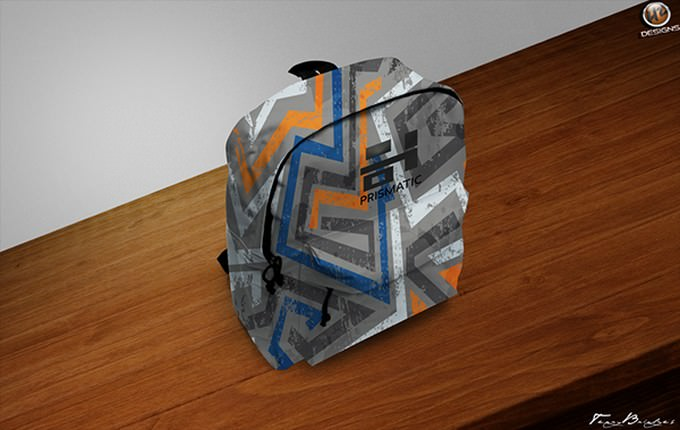 Custom Backpack Design Mockup