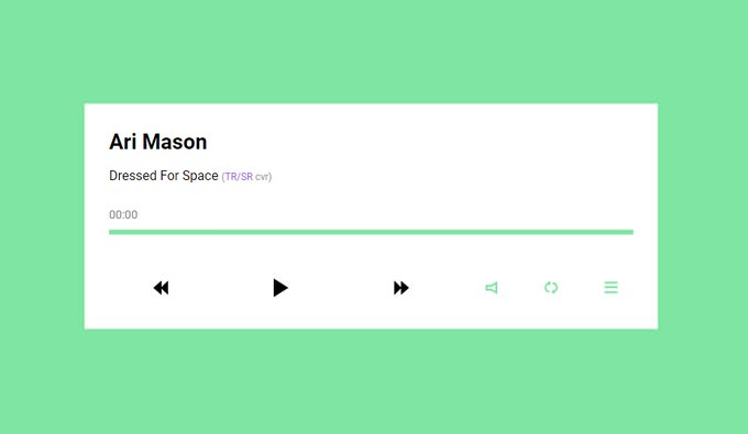 Daily_UI #009 Simple Responsive Music Player