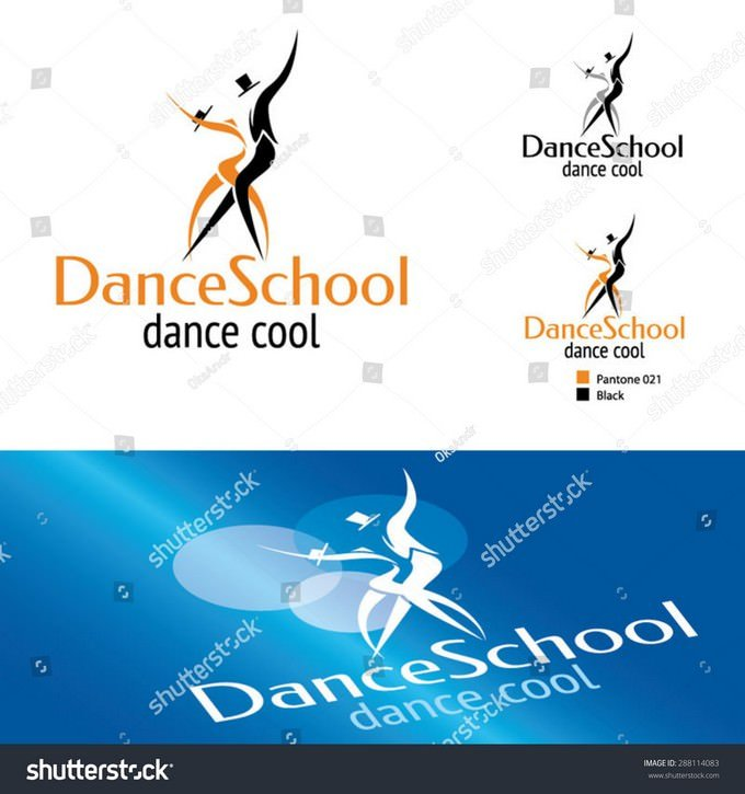 Dance School Logo Template