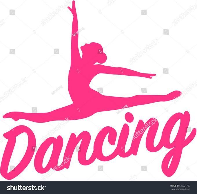 Dancing Silhouette With Word Logo