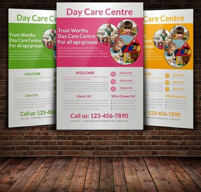 Daycare Flyer Templates # 2