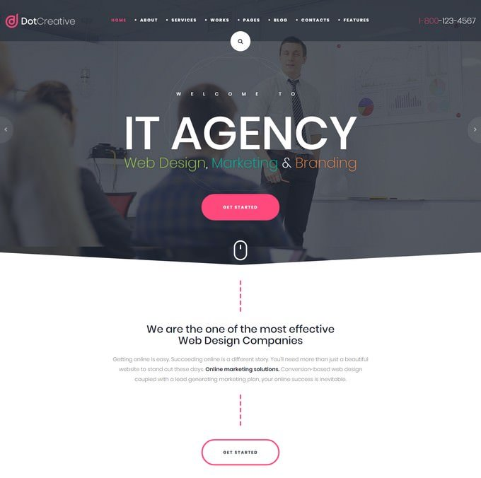 DotCreative – Web Design Agency HTML Template