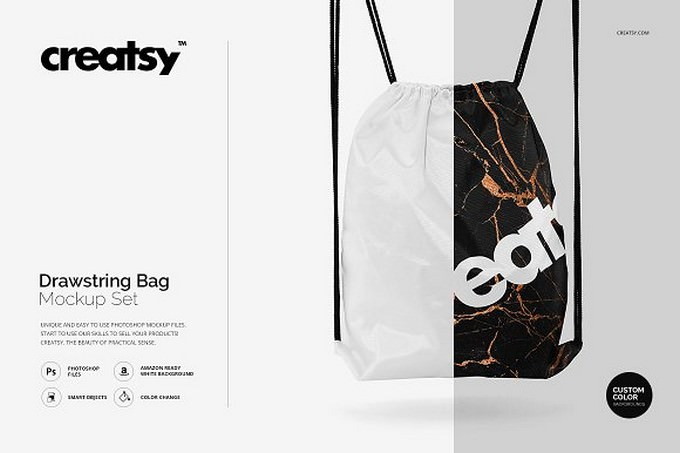 Drawstring Bag Mockup Set