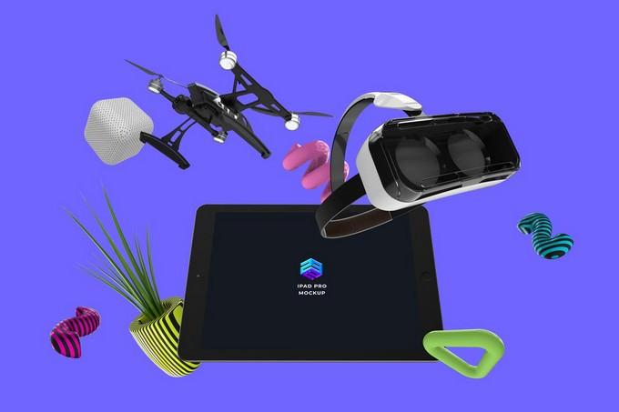 Drone VR iPad Pro Mockup - MK