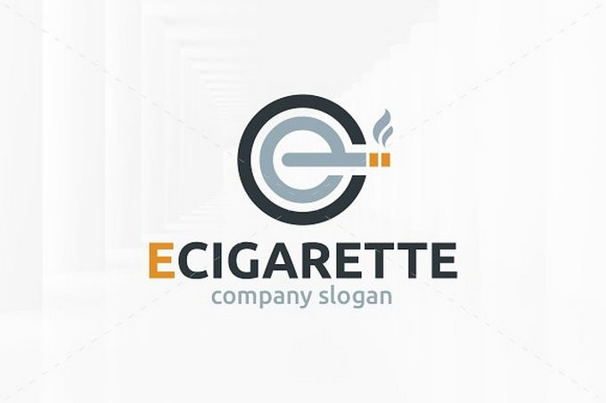 E Cigarette Logo Template