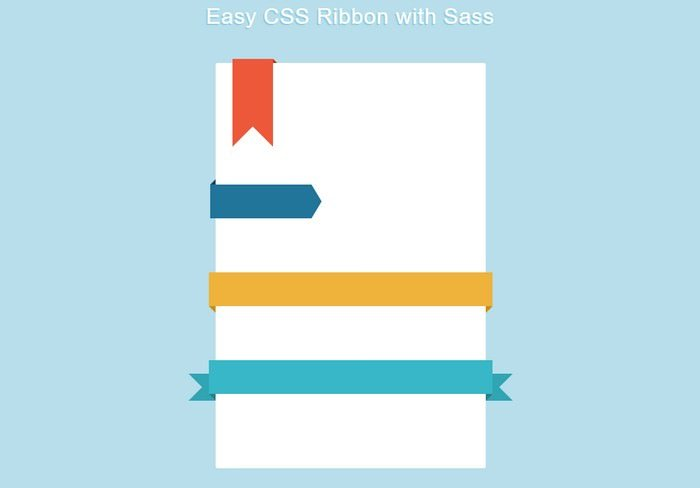 Easy CSS Ribbon with Sass