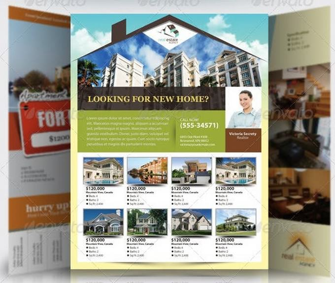 Elegant Real Estate Flyer Set